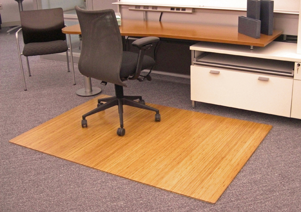 "8/16"" Thick Bamboo Chair Mats Are Bamboo Tri-Fold Office"