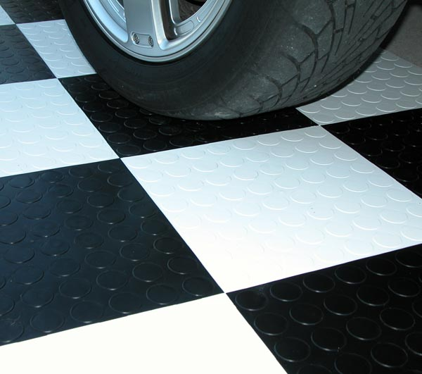 Circular Disk Interlocking Garage Floor Tiles