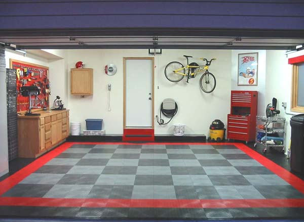 Diamondplate Interlocking Garage Floor Tiles Are Garage
