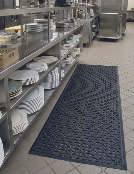 Rubber Drainage Kitchen Mats Are Floor By