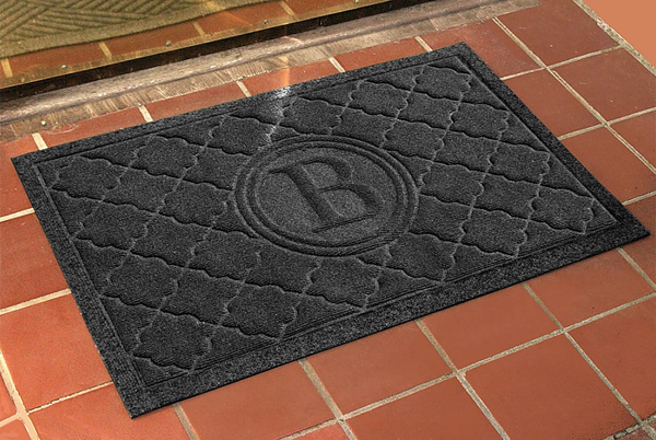 applied doormat mat and handles door french mats for double monogram monogrammed shipping free sensational