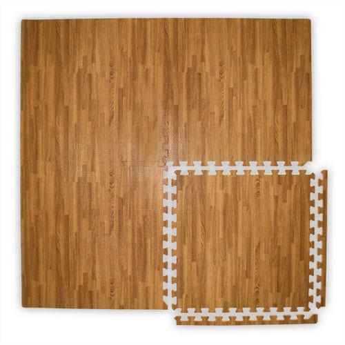 Foam wood floor tiles