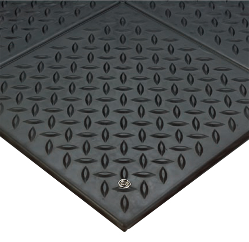 Anti Static Rubber Flooring : Diamondplate modular esd floor tiles are anti static