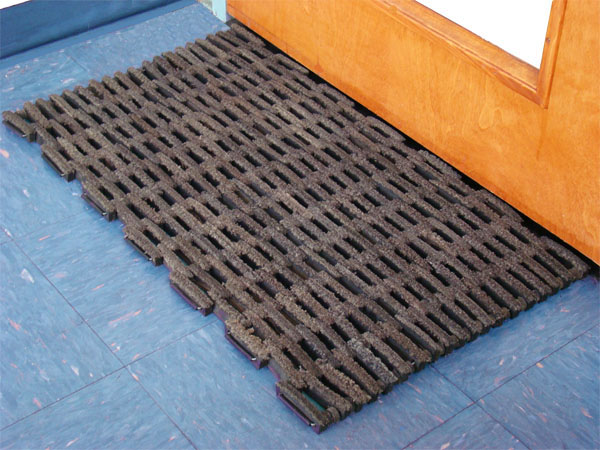Rubber Tire Link Door Mats on Home Gym Colors