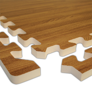 realsoft wood foam tiles are puzzle mats by
